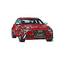 Audi RS6 Quattro Pen and Ink Sketch Photographic Print