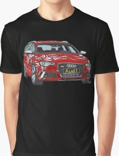 Audi RS6 Quattro Pen and Ink Sketch Graphic T-Shirt