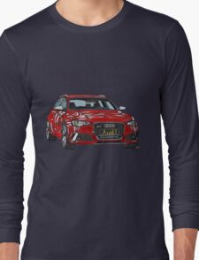 Audi RS6 Quattro Pen and Ink Sketch Long Sleeve T-Shirt
