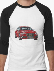 Audi RS6 Quattro Pen and Ink Sketch Men's Baseball ¾ T-Shirt