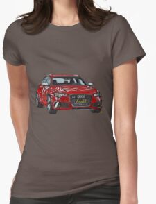 Audi RS6 Quattro Pen and Ink Sketch Womens Fitted T-Shirt