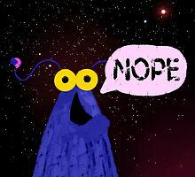 Nope (Blue) by EclecticMayhem