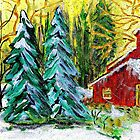 Yellow Christmas Sky by hickerson
