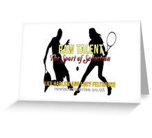 Raw Talent Greeting Card