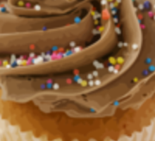 Delicious Cupcake II Sticker