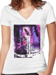Spider Clown Women's Fitted V-Neck T-Shirt