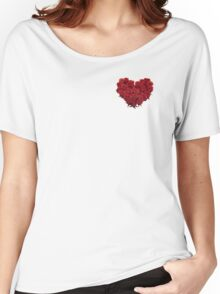 Heart of Roses Women's Relaxed Fit T-Shirt