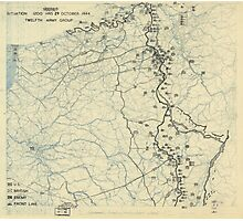 October 29 1944 World War II HQ Twelfth Army Group situation map Photographic Print