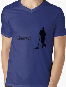 Janitor Mens V-Neck T-Shirt