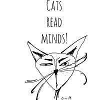 Cats Read Minds! by doodledrawings