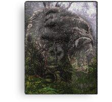 Psychedelic Gorilla illusion poster Canvas Print