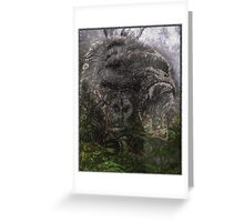 Psychedelic Gorilla illusion poster Greeting Card