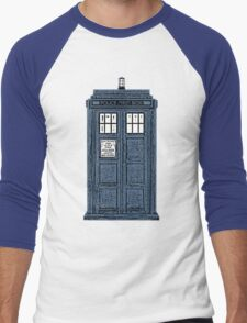 The TARDIS Men's Baseball ¾ T-Shirt