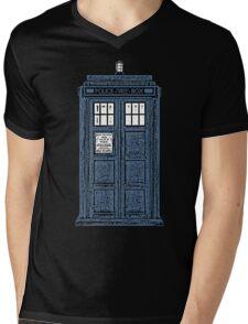 The TARDIS Mens V-Neck T-Shirt