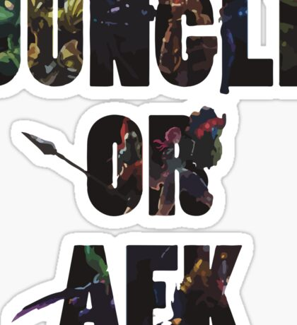 Jungle or Afk Sticker