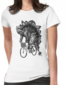 Stegosaurus Funny Womens Fitted T-Shirt