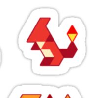 Trixel Pokemon Sticker
