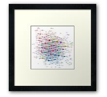 The Graph Of American Football Teams Framed Print