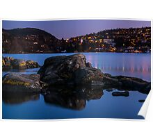 Troldhaugen sunset, Norway, Bergen Poster