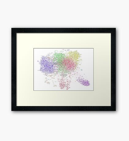 The Graph Of Thinkers Framed Print