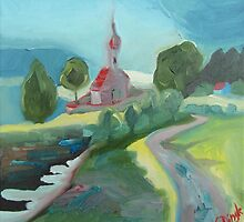 Murnau Church by Claudia Dingle