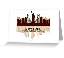 New York USA Greeting Card