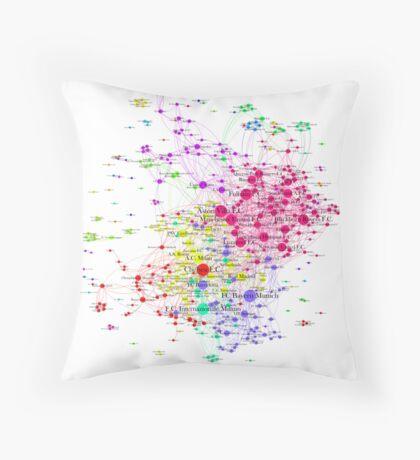 The Graph Of Soccer Teams Throw Pillow