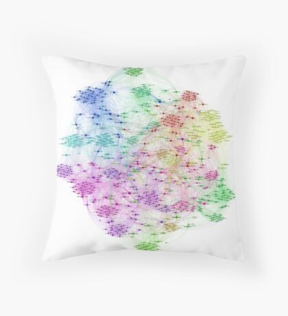 The Graph Of Ice Hockey Players Throw Pillow