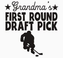 Grandma's First Round Draft Pick Hockey One Piece - Long Sleeve