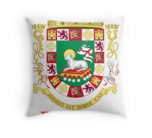 Rodriguez Shield of Puerto Rico Throw Pillow