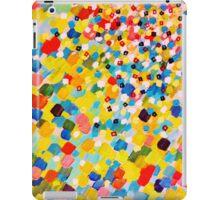 SWEPT AWAY 2 - Vibrant Colorful Rainbow Mango Yellow Waves Mermaid Splash Abstract Acrylic Painting iPad Case/Skin