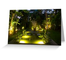 Water gardens at night Greeting Card