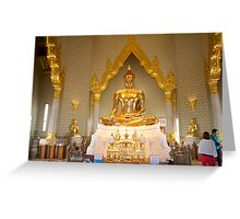 Phra Sukhothai Traimit Golden Buddha Bangkok Greeting Card