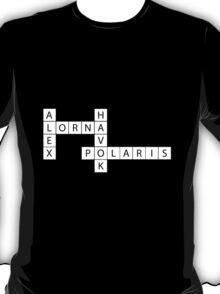 Crossword Ships - Havok/Alex and Polaris/Lorna T-Shirt