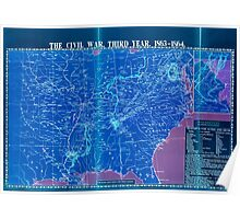 Civil War Maps 1113 McConnell's Historical maps of the United States 03 Inverted Poster