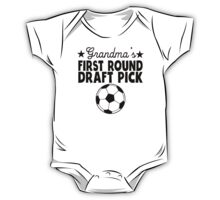 Grandma's First Round Draft Pick Soccer One Piece - Short Sleeve