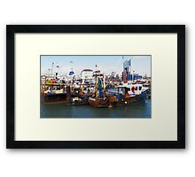 Portsmouth Harbour - Boats Await Framed Print