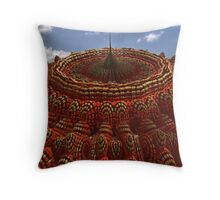 Fortress In The New World Throw Pillow