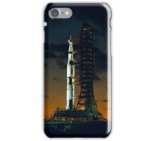 Cool Colorful Apollo Moon Mission at Launchpad iPhone Case/Skin