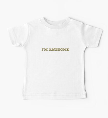 I'm awesome Kids Clothes