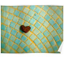 Heart-Shaped Beach Treasure Poster
