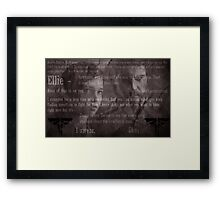 The Last of Us Ending Lines (SPOILERS) - B&W Framed Print