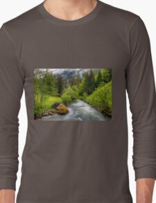 Spring meets winter in the Alps Long Sleeve T-Shirt