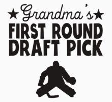 Grandma's First Round Draft Pick Hockey Kids Clothes