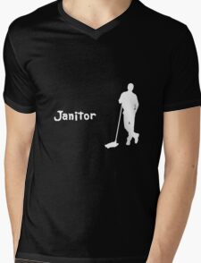 Janitor Mens V-Neck T-Shirt