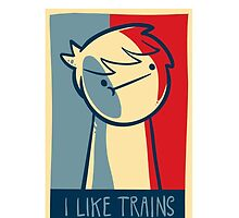 "Galaxy s3 tough case ""I like trains"" by Supsnow"