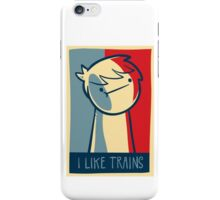 "iphone 4 capsule case ""I like trains"" iPhone Case/Skin"