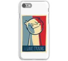 "iphone 4 capsule case ""I like trains"" iPhone Case/Skin"