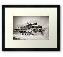 """Heavy Armour""- Challenger 2 Main BattleTank (MBT) British Army Framed Print"