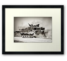 """Heavy Armour""- Challenger 2 Main BattleTank (MBT) British Army Framed Print"